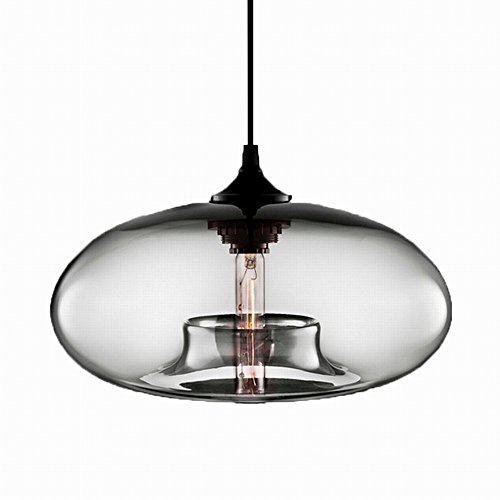 Modern Simple Hanging Glass Pendant Lighting for Kitchen Island Light Fixtures (Clear) by Newrays (Image #4)