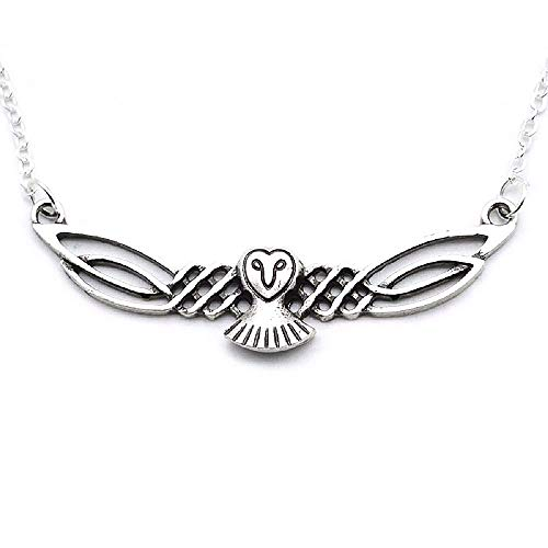 - HAQUIL Owl Necklace Celtic Viking Owl Pendant Necklace for Women and Men
