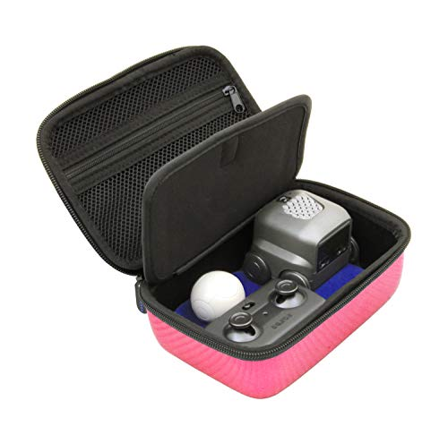 CASEMATIX Pink Toy Case Compatible with Boxer Interactive A.I. Robot - Includes Toy Box and Felt Bag to Hold Game Activating Feature Cards