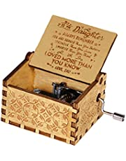 mom/dad to Daughter -Love More Than You Know,Pure Hand-Classical You are My Sunshine to My Daughter Music Box Creative Wooden Crafts Best Gifts