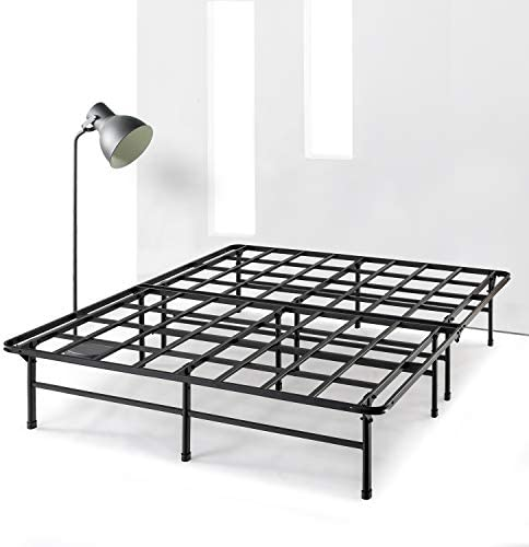 Best Price Mattress Full 14 Inch Metal w Heavy Duty Steel Slat Mattress Foundation Noise Free Platform Bed Frame No Box Spring Needed , Black