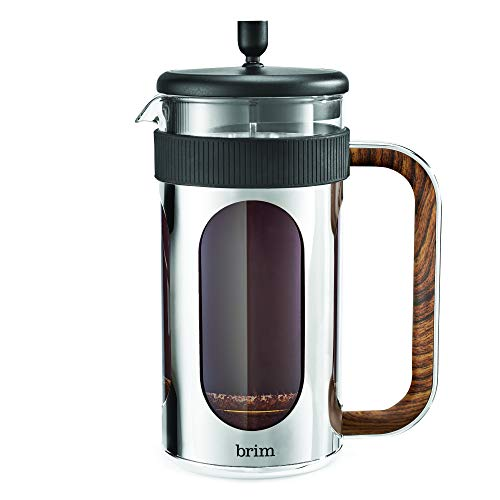 Brim 8 Cup French Press, Quickly Brew Coffee in Under 5 Minutes, Classic Design with Modern Twist, Dishwasher Safe…