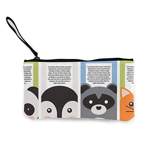 Coin Print Anilmal Purse For Pattern And Wallets Fregrthtg Women Unisex 3d Letter Canvas Men 10nSX6q