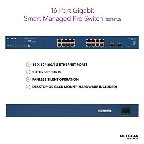 Image of NETGEAR 16-Port Gigabit Ethernet Smart Managed Pro Switch (GS716Tv3)