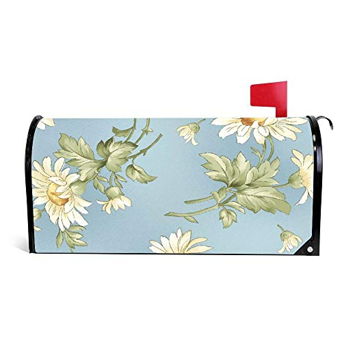 - DKISEE Magnetic Mailbox Cover Tossed Daisies Mailbox Wraps Post Letter Box Cover 18