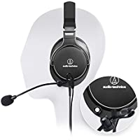 Audio-Technica ATH-MSR7NC SonicPro High-Resolution Headphones with Active Noise Cancellation -INCLUDES- Antlion Audio ModMic Attachable Boom Microphone - Noise Cancelling w/ Mute Switch + Y Adapter