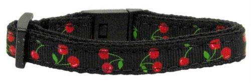 Cherries Nylon Collar Black Cat Safety Case Pack 24 Cherries Nylon Collar Bla... by DSD