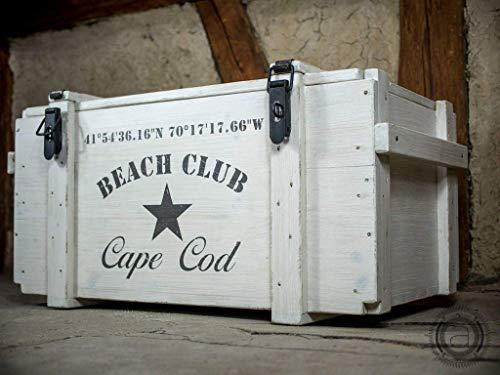 Wei/ßer Truhentisch Beach Club individuell /& personalisiert