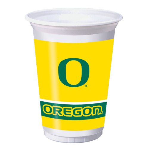 8-Count 20-Ounce Plastic Party Cups, University of Oregon -