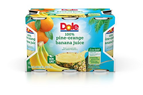 (DOLE PINEAPPLE ORANGE BANANA JUICE 6-6 Ounce Cans (Pack of 48))