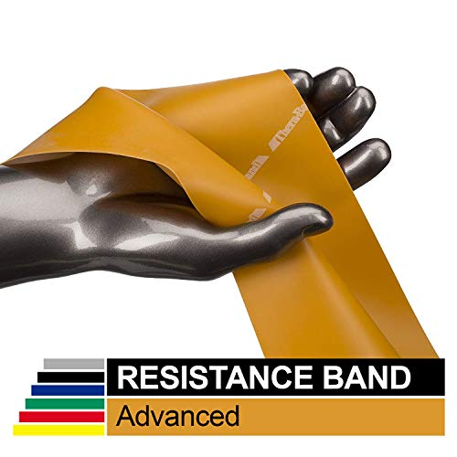 TheraBand Professional Latex Resistance Bands, Individual 6 Ft Elastic Band for Upper & Lower Body Exercise, Physical Therapy, Pilates, at-Home Workouts, 6 Foot Band, Gold, Max, Elite (Best Material For Slingshot Bands)