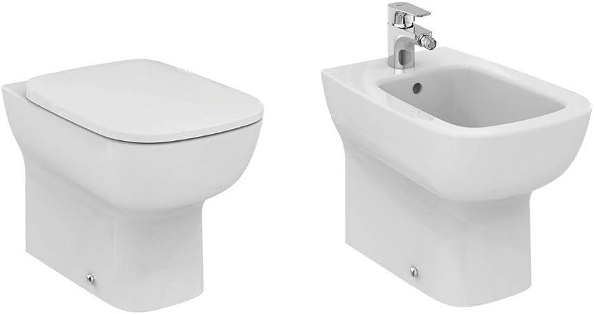 Ideal Standard Esedra Sedile.Ideal Standard Esedra Coppia Sanitari A Pavimento Con Sedile Incluso Bianco Unica Amazon It Casa E Cucina