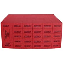 Auction Tickets - 500 Sheets - Red (National Bingo)