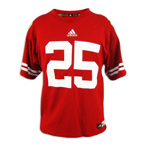 Wisconsin Badgers Adidas Youth Red Replica Jersey:XL-18-20