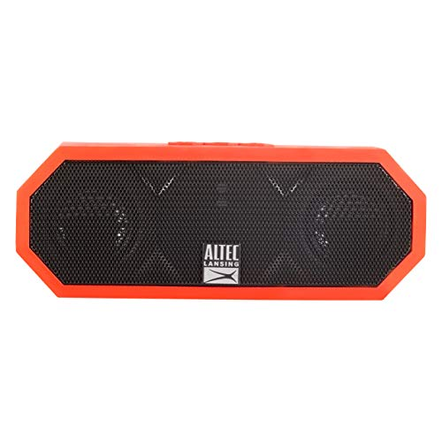 Altec Lansing iMW457 Jacket H2O 2 Bluetooth Speaker, IP67 Waterproof, Shockproof and Snowproof Rated and it FLOATS Rating, 8 Hours of Battery, Deep ()