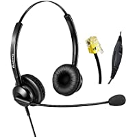 Telephone Headset Cisco IP Phone Headset Headphone with Microphone Noise Cancelling for Cisco IP phones Only