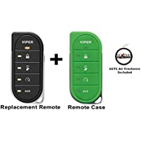 Viper 7856V 2 Way LED Remote Transmitter with a Green Colored Cover 87856VG and a FREE SOTS Air Freshener