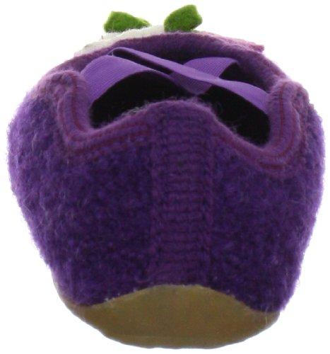 Haflinger Milli 483006 Mädchen Hausschuhe Violett (veilchen 32)