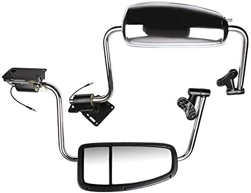 SCITOO Rearview Mirrors Covers,Car Mirrors Covers for Freightliner Century Columbia 2005-2017 Car Mirror Shell with Plating Left Side and Right Side