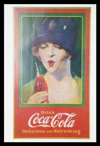 Buyartforless FRAMED Coke Coca Cola 30x21.75 Delicious and Refreshing Vintage Advertizing reproduction (Coca Cola Vintage Reproduction)