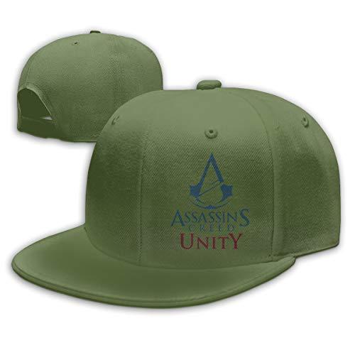 Chouven Women Men Baseball Caps Assassin's Creed Unity Logo Adjustable Snapback Flat Brim Rock Hat Unisex Moss ()