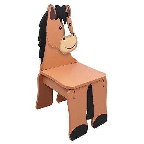 Fantasy Fields - Happy Farm Animals Thematic Kids Wooden Horse Chair | Imagination Inspiring Hand Crafted & Hand Painted Details | Non-Toxic, Lead Free Water-based Paint (Horse Chair)
