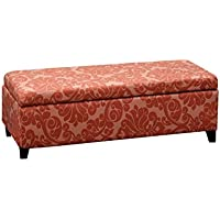 Whse of Tiffany Bolbolac Fabric-upholstered Storage Bench, Burgundy Flower
