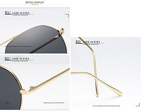 Gafas UV400 C1 Hombre para de Color Gafas Adultos de para MXNET Gafas C7 Marco de Sol de Gafas de Moda Sol Sol Espejo clásica Mujer la Grandes de Grande Manera fRx4pwt4gq