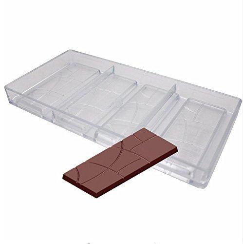 VALINK Plain Chocolate Bar Mold Candy Bar Mould Fancy Bars PC Polycarbonate Chocolate Mould Baking Mold Cake Fondant Soap Making Pan, Baking Tray Bakeware Pan Home Kitchen Baking Tool -