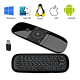Wireless Keyboard, Yongf 2.4G Mini Wireless Keyboard and Fly Mouse with Mouse Game Handle Android Remote Control for Smart TV Android TV Box PC HTPC IPTV Media Player