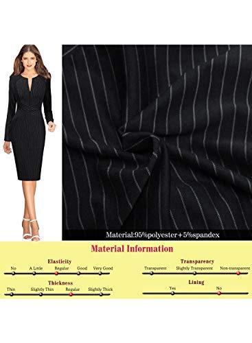 Slim VFSHOW Womens up Dress Office Sheath Work Black Party Zipper Business PqqAn6xT5