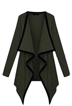 Vska Womens Irregular Loose Cardigan Jacket 1 OS