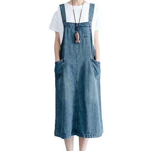 CAIXINGYI レディース 夏 新 韓国 大サイズ 女性 ドレス 大きなポケット スカート女性 ジャンパースカート