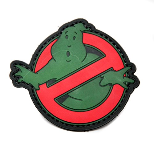 Ghostbuster Glow In The Dark PVC Morale Patch, Hook Backed Morale Patch by NEO Tactical Gear (Cowboy And Angel Costume)