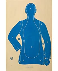 "(30x) Shooting Targets Law Enforcement Police Silhouette 23""x35"" 25 yard B-21-E-BU"