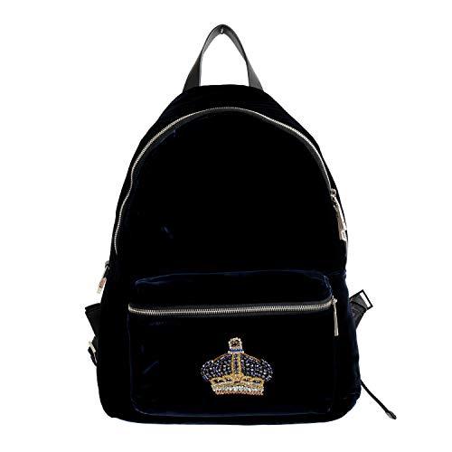 Versace 'n' Royalty Men's DFZ6735-DVEL Blue Velour Backpack ()