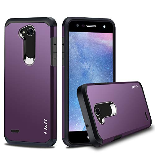 J&D Case Compatible for LG X Charge/X Power 2/Fiesta 2/LG Fiesta/LG V7 Case, Heavy Duty [Dual Layer] Hybrid Shockproof Protective Rugged Bumper Case for LG X Power 2 Case- Not for LG X Power/X Power 3