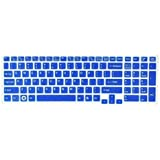 Silicone Laptop Keyboard Protector Skin Cover for Sony Vaio Pcg-61511T, E15, S15, F219, F24, EB, EE, EH, EL, CB, SE, Series 15.5 inch With Number Pad on the right US Layout (Blue Semitransparent)