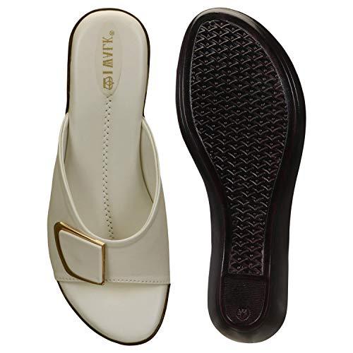 41G%2B C0GVeL. SS500  - 1 WALK Comfortable Women-Flats/Fashion Slippers/Casual Footwear/Party slippers/MP-E101(A,B,C,D,E,)-$P