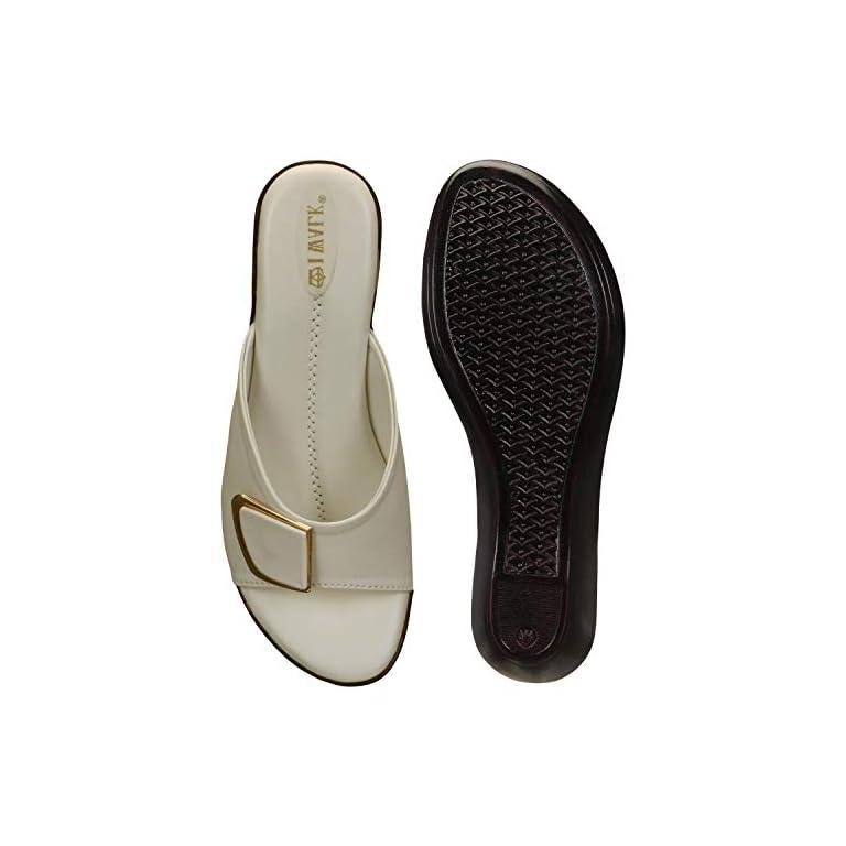 41G%2B C0GVeL. SS768  - 1 WALK Comfortable Women-Flats/Fashion Slippers/Casual Footwear/Party slippers/MP-E101(A,B,C,D,E,)-$P