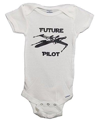 Mari Kyrios Creations Star Wars Rebel X Wing Future Pilot Onesie Resistance Fighter Baby Jumpsuit Pajamas & Bodysuit Romper PJ (3-6 Months)