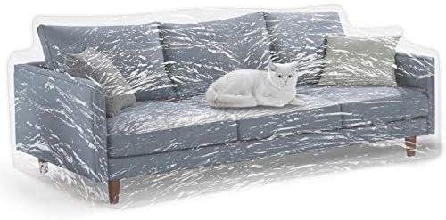 Amazon.com: Funda de sofá KEBE transparente y gruesa para ...