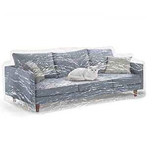 Amazon.com: KEBE Clear Thick Couch Cover for Pets, Heavy