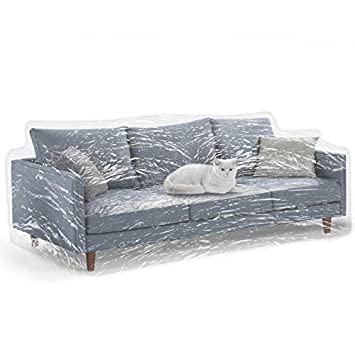 Surprising Kebe Clear Thicker Couch Cover For Pets Heavy Duty Cat Scratch Sofa Cover For Protection Against Cat Dog Clawing Waterproof Plastic Shield Covers Machost Co Dining Chair Design Ideas Machostcouk