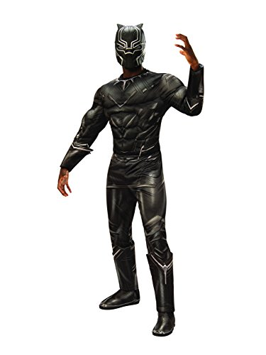 Rubie's Men's Captain America: Civil War Deluxe Muscle Chest Black Panther Costume, -