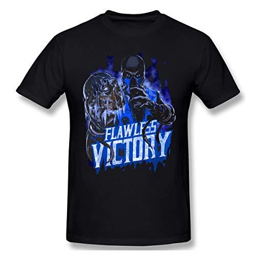 BXNOOD Mens Vintage Sub Zero Mortal Kombat Flawless Victory Tee S Black