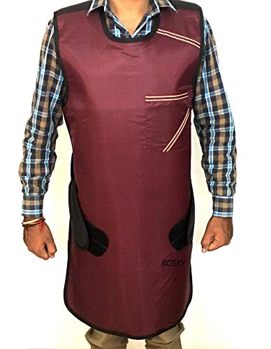 Xray Protective Apron .5mm Lead Protection with Hanger (Mehroon)
