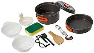 Arcadia Outdoors Camping Cookware Mess Kit, 11 Pieces
