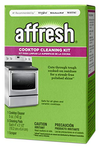Whirlpool W11042470 Affresh Cleaning Kit (Cooktop Cleaner, Scraper and Scrub Pads)