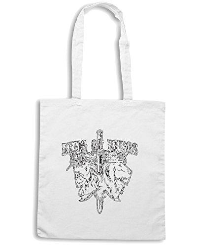 T-Shirtshock - Borsa Shopping TB0034 king of kings Bianco